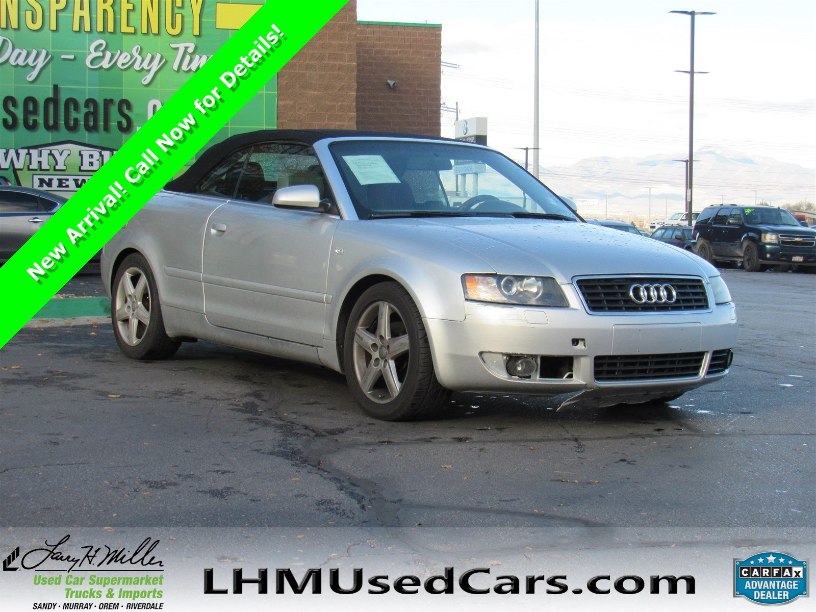 Pre Owned 2003 Audi A4 3 0L Convertible in Sandy M8059A